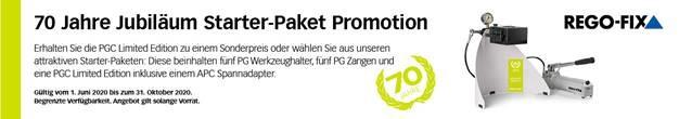 70 Jahre Jubiläum PGC Starter-Paket Promotion
